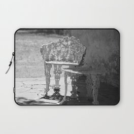 Black and White Seating Area Fort Stanton New Mexico Laptop Sleeve