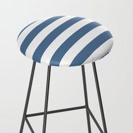 Blue and White Stripes Bar Stool