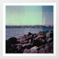 mission bay - san diego - california - cali life - beach - sx-70 one-step - polaroid print Art Print
