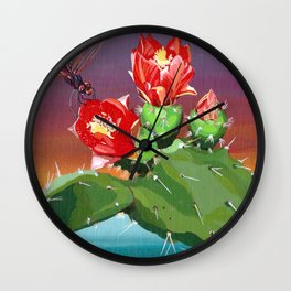 Cactus racket Wall Clock