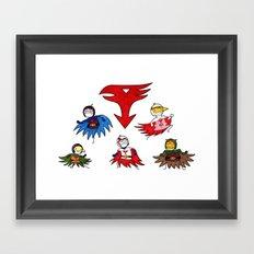 Gatchaman! Framed Art Print