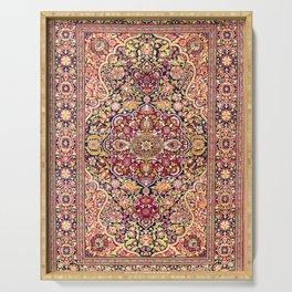 Esfahan Antique Floral Persian Rug Print Serving Tray