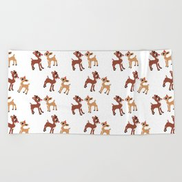 Classic Rudolph and Clarice Beach Towel