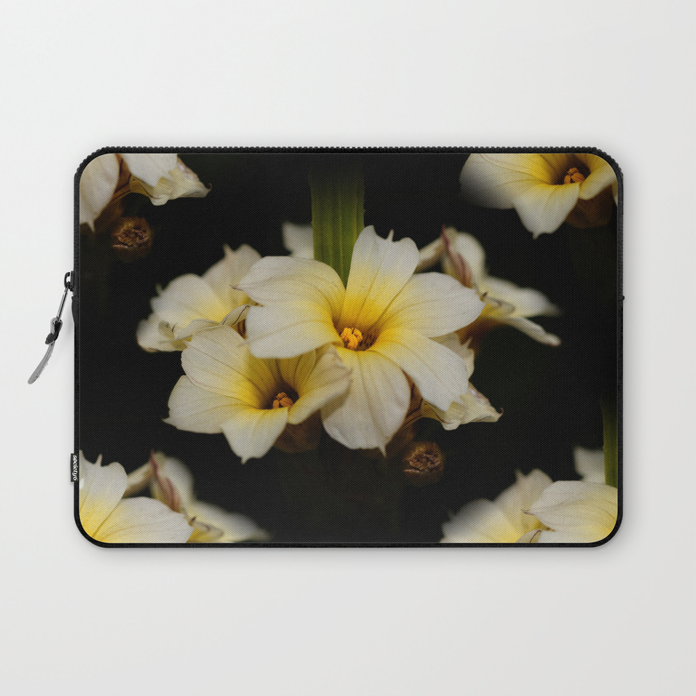 Yellow Mexican Satin Flowers Laptop Sleeve LSV8387670