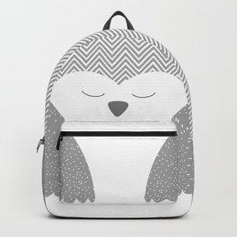 gray owl Backpack