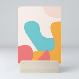 Geometrical Shapes #geometric #illustration #art Mini Art Print