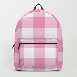 Light Pink Gingham Pattern Backpack