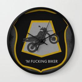 'm Fucking Biker Wall Clock