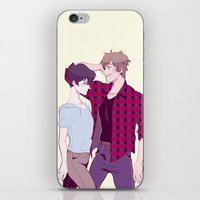 iwatobi iPhone & iPod Skins featuring Haru and Makoto by Alyssa Tye
