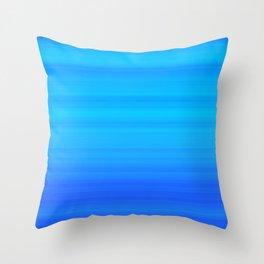 Blue Sea Stripes Throw Pillow