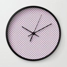 Mulberry Polka Dots Wall Clock
