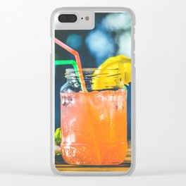 happy coctail Clear iPhone Case