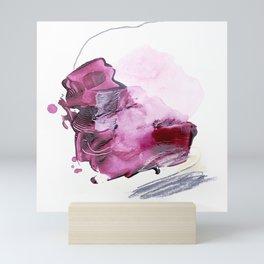Pink & Purple 2 modern, minimal abstract painting Mini Art Print