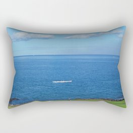 Running with the Outrigger  Rectangular Pillow