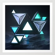 [22/07/16] TRIANGLES ARE COOL Art Print