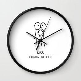 KISS by ISHISHA PROJECT Wall Clock