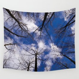 Circle of Trees and Blue Skys Wall Tapestry