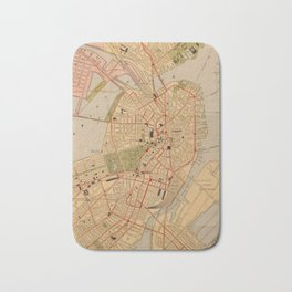 Vintage Map of Boston MA (1902) Bath Mat