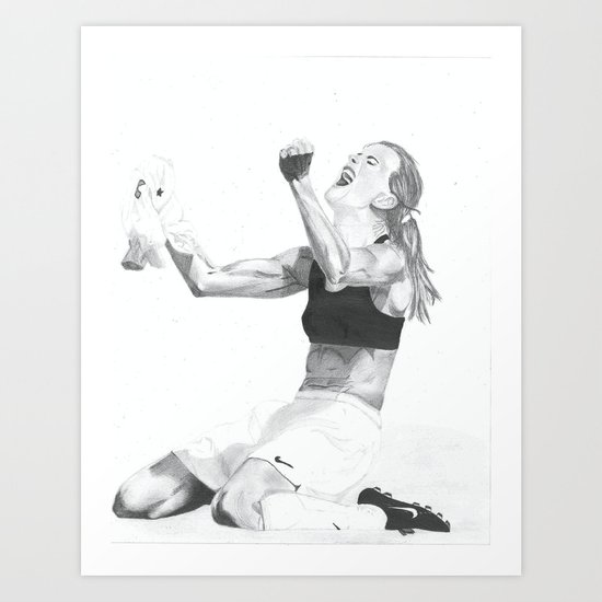 Brandi Chastain Art Print
