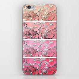 Van Gogh Almond Blossoms Deep Pink to Peach Collage iPhone Skin