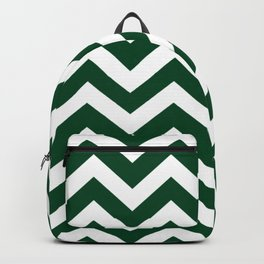 Forest green (traditional) - green color - Zigzag Chevron Pattern Backpack