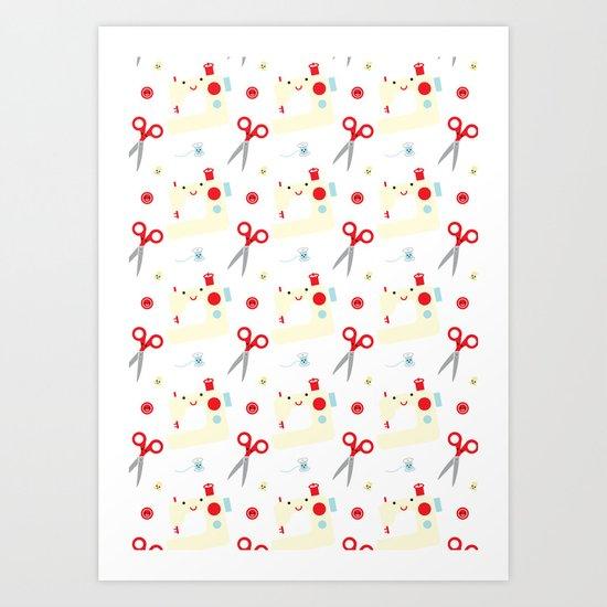 Sewing fun Art Print