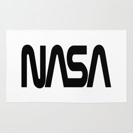 "NASA Black ""Worm"" Logo Rug"