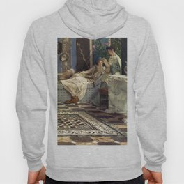 From An Absent One 1871 by Sir Lawrence Alma Tadema | Reproduction Hoody