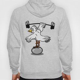 Chicken lifting weights Hoody