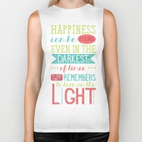 happiness Biker Tanks featuring Happiness by Dorothy Leigh