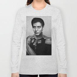 Al Pacino Scar Face General Portrait Painting | Fan Art Long Sleeve T-shirt