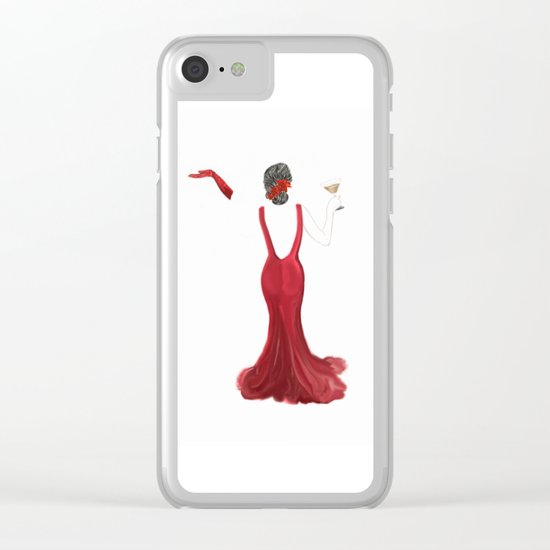 Diva toast Clear iPhone Case