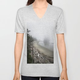 Misty beach Unisex V-Neck