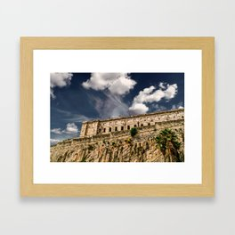 Old Prison on Cliff Framed Art Print