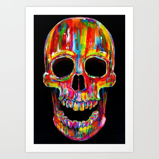 Chromatic Skull Art Print