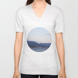 Sunset from Granville Plaza Unisex V-Neck