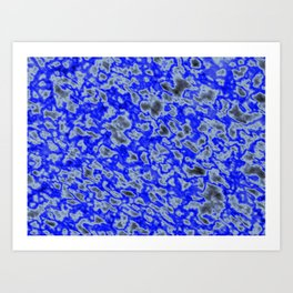 Bluberry Bubble Bop Art Print
