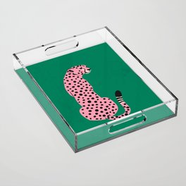The Stare: Pink Cheetah Edition Acrylic Tray