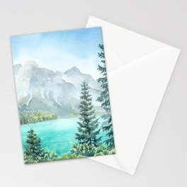 Emerald Lake Watercolor Stationery Cards