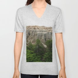 Badlands View From The Rim Road Unisex V-Neck