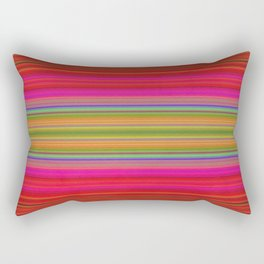 Colorful pink red green geometrical stripes Rectangular Pillow