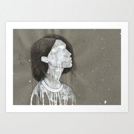 girl with a silver trabzon hasırı necklace Art Print