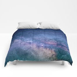 Milky Way Stars (Starry Night Sky) Comforters