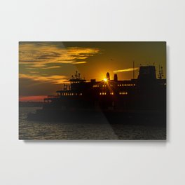 Staten Island Ferry at Sunrise Metal Print