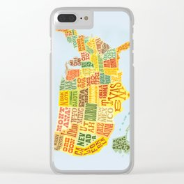 United States of America Map Clear iPhone Case