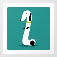 dog Art Prints featuring Dog by Maria Jose Da Luz