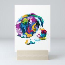 Colorful Saint bernard Cute Geometric Dog pop art syle Gift T-Shirt Mini Art Print