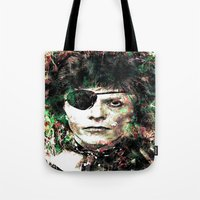 david bowie Tote Bags featuring BOWIE by Vonis
