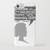 jane austen iPhone & iPod Cases featuring [Jane Austen] Book Lover by samarasketch