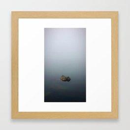 Rock in the Fog Framed Art Print